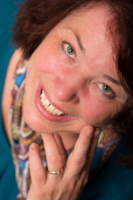 Portret van Martine, geschoten met de macrolens.