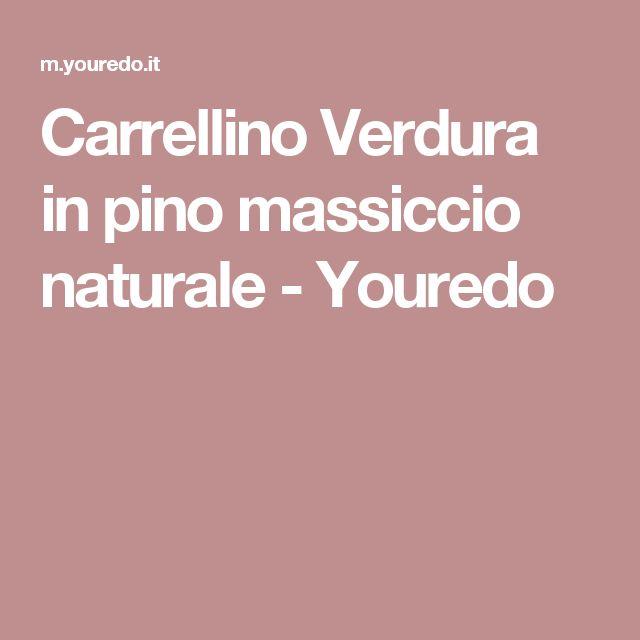 Carrellino Verdura in pino massiccio naturale - Youredo