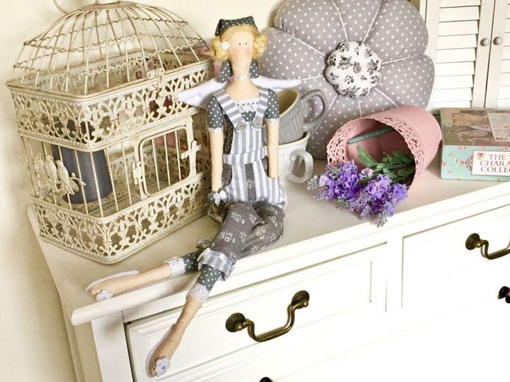 Lalka - tilda w szarości Tilda doll grey gardener
