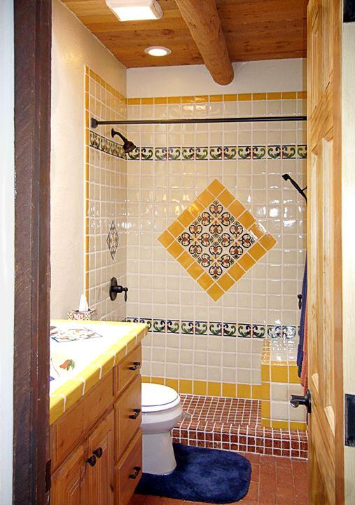 91 best talavera tile bathroom ideas images on pinterest for Spanish tile bathroom floor