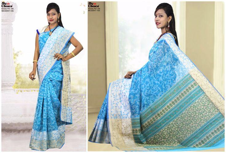 Supnet Blue Saree