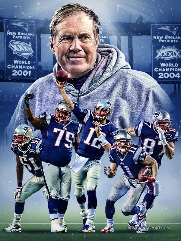Bill Belichick, Jerod Mayo, Vince Wilfork, Tom Brady, Julian Edelman, Rob Gronkowski (New England Patriots)