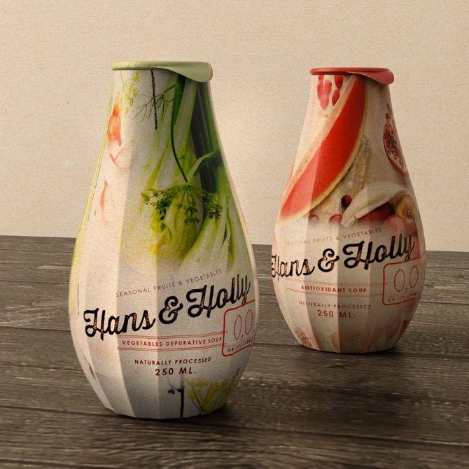 Design diferenciado para embalagem de Sopa instantânea, que além de promover o consumo de uma alimentação saudável, preza a consciência ambiental com esta embalagem totalmente ecológica.