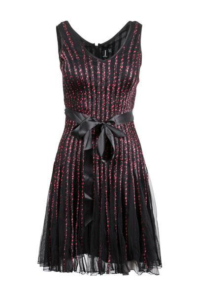 Polka Dot Print Ribbon Dress