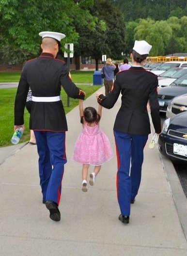 ADORABLE! I wish I was active duty when she was old enough to do this!