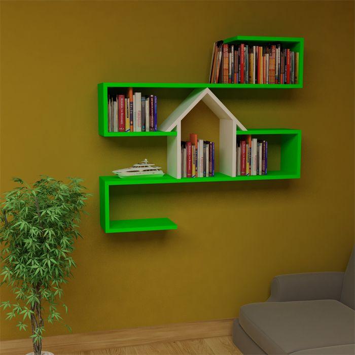 Bu dekoratif raf modelini evimde kitaplık olarak kullanmak istiyorum.