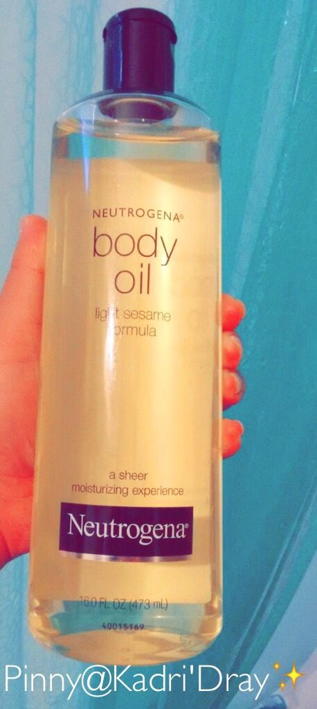 Best body oil ever! After a shower, rub into skin for a couple minutes then pat dry... best looking skin and the softest too