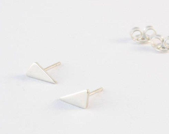 Handmade tiny sterling silver stud earrings-Geometric earring-One of a kind. MINOatelier.etsy.com  (scheduled via http://www.tailwindapp.com?utm_source=pinterest&utm_medium=twpin)