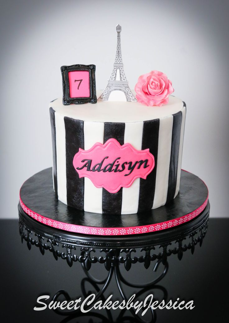 Black Pink And White Cakes