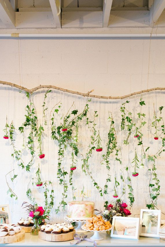 25 best ideas about floral baby shower on pinterest for Baby shower wall decoration ideas