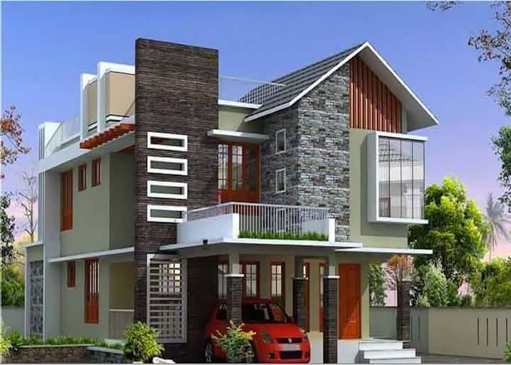 Modern house-5 Bedrooms w/ front balcony. .