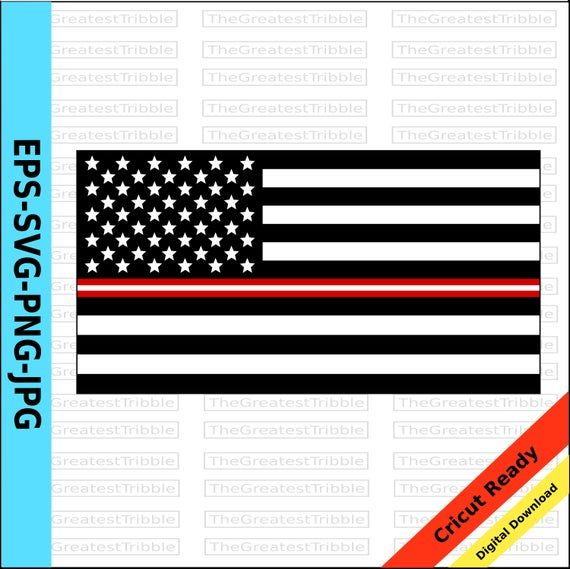 Thin Red On White Line United States Flag Eps Svg Png Jpg Etsy United States Flag Clip Art State Flags