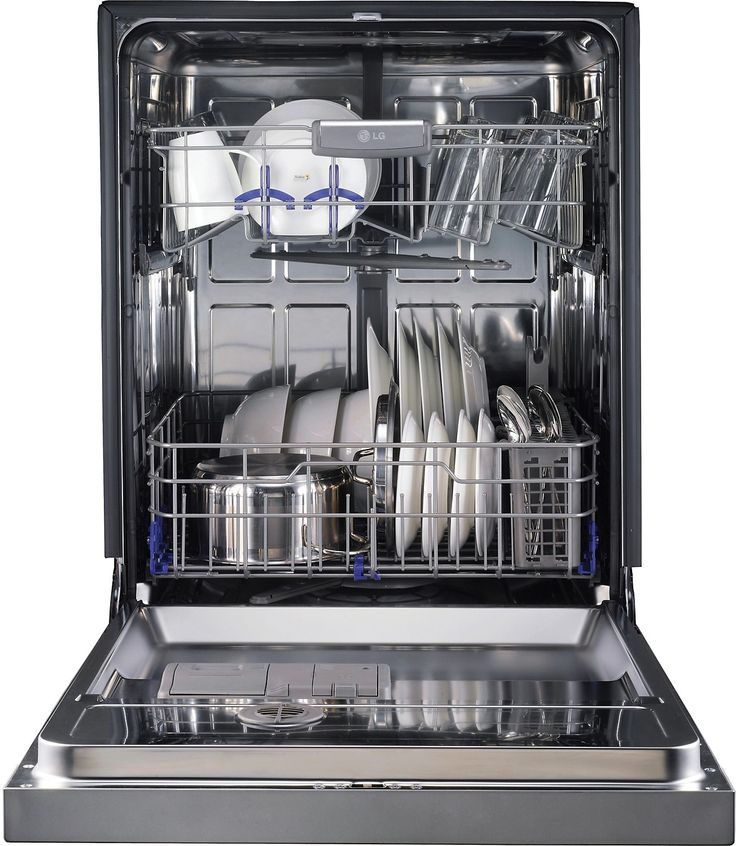 """LG 24"""" Semi-Integrated Dishwasher with Flexible EasyRack™ System - Stainless Steel 