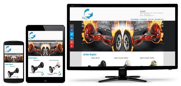Ny #responsiv #Joomla #webside for spennende #tohjuling som er langt rimeligere enn #segway.