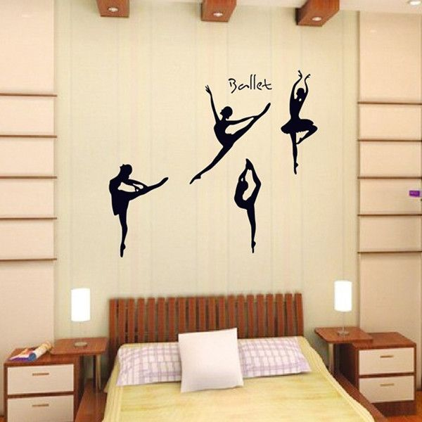 >> Click to Buy << 105*130cm Large Ballet Music Dancing Pose Wall Decor Sticker PVC Wall Decal Ballet for Girls Room #Affiliate
