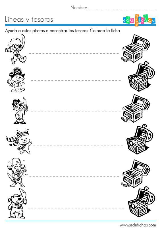 Hojas de trabajo con actividades de grafomotricidad para niños de 3 ...