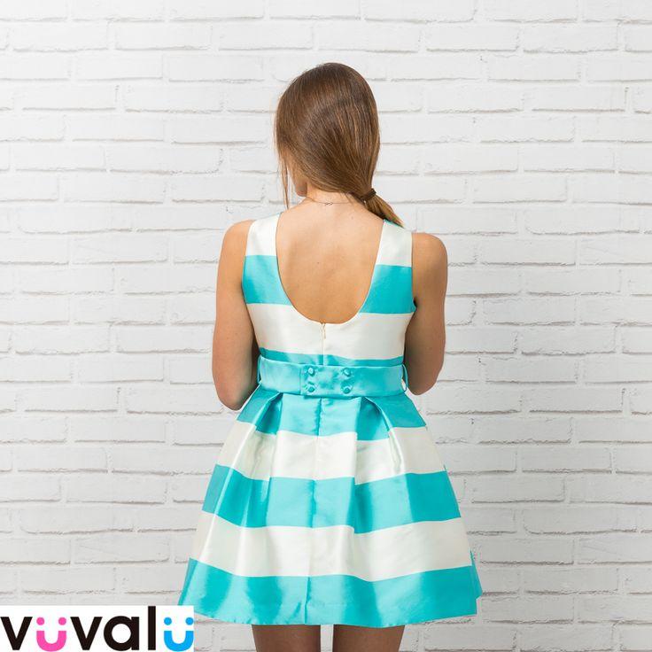 #Vestido rayas #Amaya con #escote en espalda