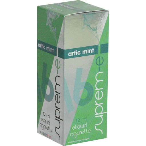 ARTIC MINT - Balsamic mint together with white mint crystals that delight the palate and offer a rich and strong vaping. Artic mint is the ideal companion for those who love a deeper and deeper freshness. 12 ml Line FLAVOURS & FRUIT FLAVOURED E-liquids for e-cigarette by Suprem-e http://www.suprem-e.com