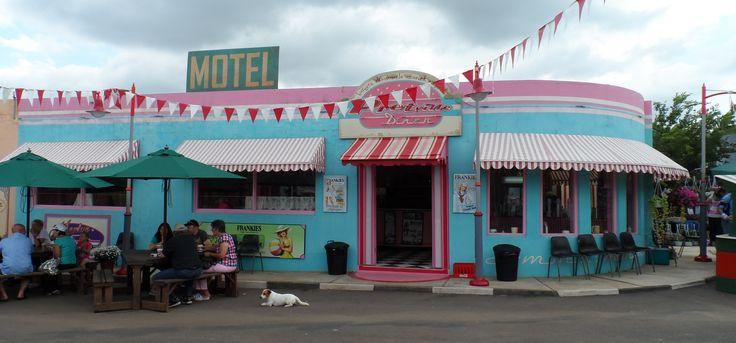 Pretville Diner. Movie set near Hartebeespoort Dam, North West Province, South Africa