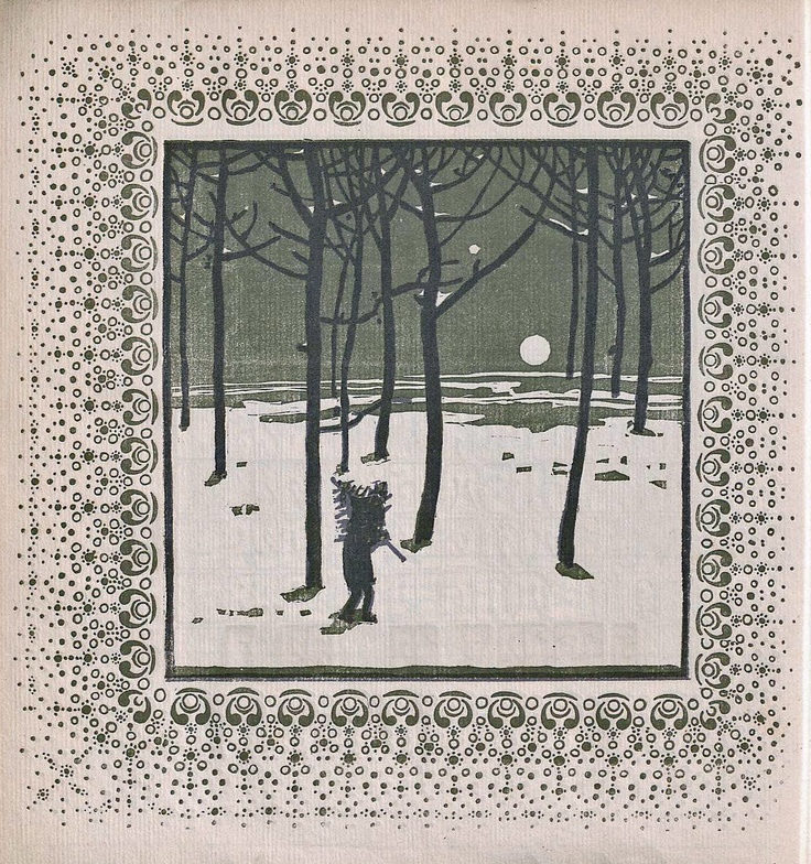 Koloman Moser - December, 1903, for Ver Sacrum calendar, University of Heidelberg Digital Library