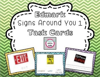 My newest set of Edmark task cards is posted & on sale!!!  These task cards were made as supplemental materials for the Edmark Signs Around You 1 program. There are 3 levels included, each with pictures for all 50 words from the program.  Level 1 (most difficult): write the word Level 2: trace the word Level 3: circle the correct word from an array of 3