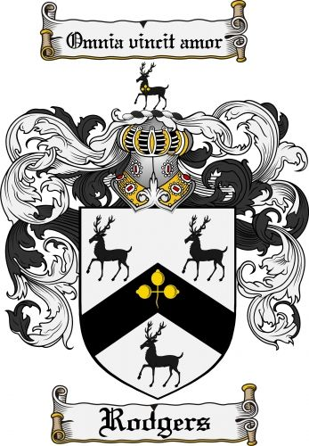 Rodgers Coat of Arms Rodgers Family Crest Instant Download