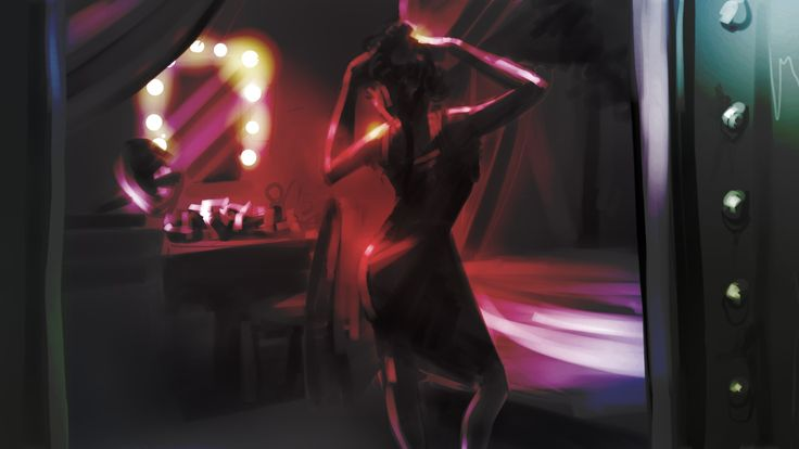 Concept art of Sonya in her room on board The Fitzroy.
