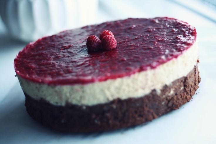 midtimellem: Brownie raspberry cheesecake // pco venlig