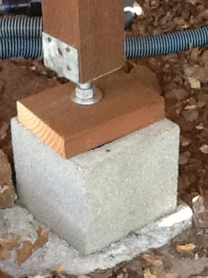 Concrete Pillars For Foundation : Best deck project images on pinterest decking patio