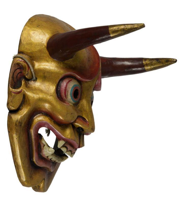 Masque demon japonais Oni Devil Nô- artisanat fait main-diable 9445