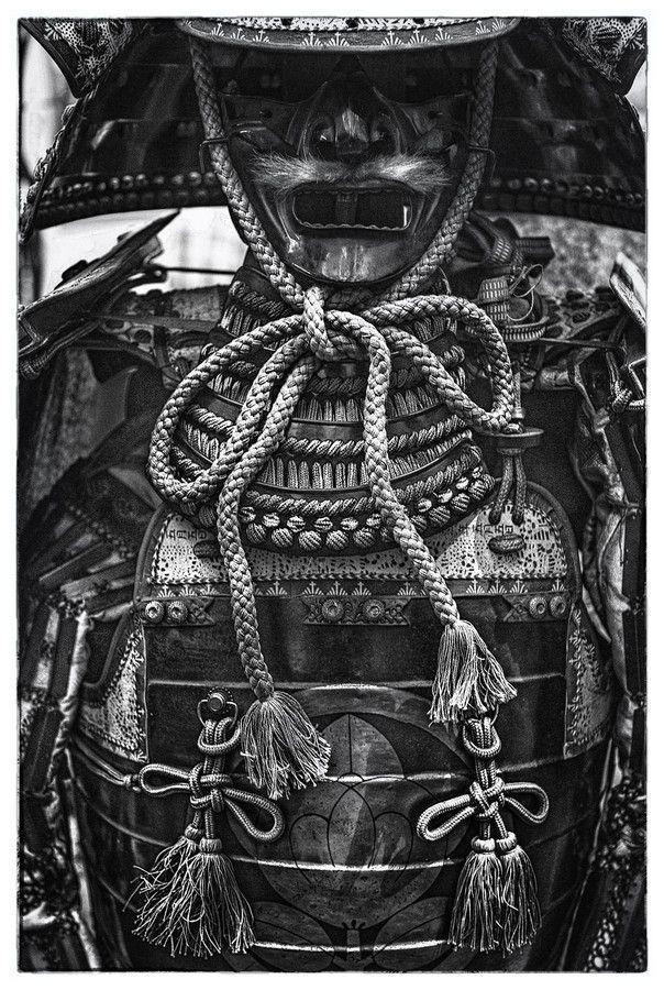 black and white samurai armor black and white sketch