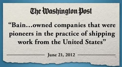 The Washington Post breaks down Mitt Romney's record of outsourcing jobs overseas.