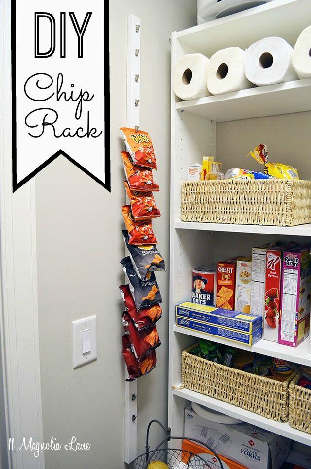 Diy 10 Pantry Chip Rack Kitchen Organization Pantry