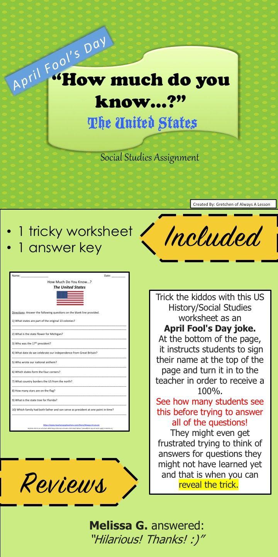 April Fools Day Trick Social Studies Assignment Social Studies April Fools Day Jokes Social Studies Worksheets [ 1440 x 720 Pixel ]