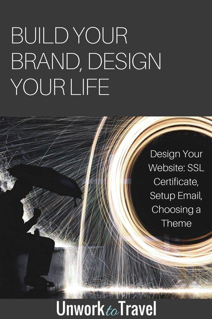 build your brand design your life design your website setup email