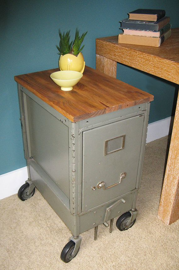 How about doing this with a regular old metal filing cabinet?