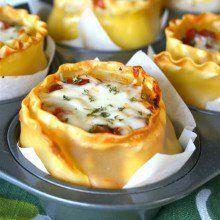 Lasagna Cups at laurenslatest.com