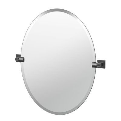 Gatco Elevate Frameless Oval Bathroom Mirror Size 265 H X 24