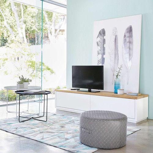 17 meilleures id es propos de meuble tv blanc laqu sur for Bout de canape blanc laque
