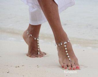 Sandalo a piedi nudi di forma geometrica accessori di Fundem