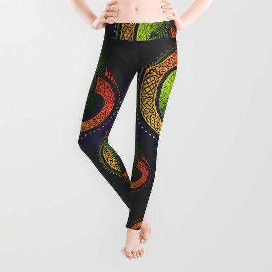 'Irish Twist' Leggings @society6 -  #society6leggings #design #artist #shareyoursociety6 #art #leggings #paddysdayattire #stpatricksday #irish #celtic #damhsa #celticknot #gymwear #fitness #irishstyle #fashion #casualwear #comfy #society6