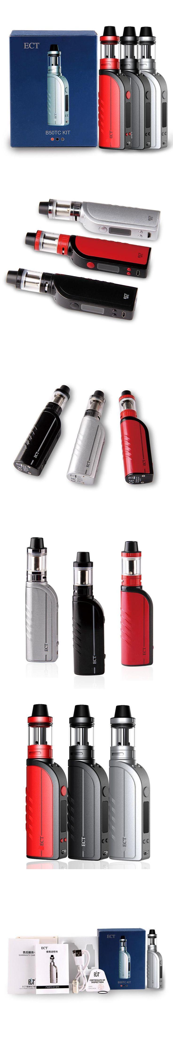 Original ECT B50 Temperature control starter kits e cigarette vaporizer mod vape mod atomizer 2200mah electronic cigarette