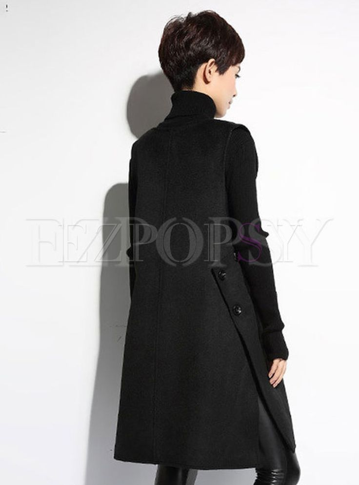 Shop for high quality Womens Cool Fashion Long Sleeve Wool Loose Coat online at cheap prices and discover fashion at Ezpopsy.com