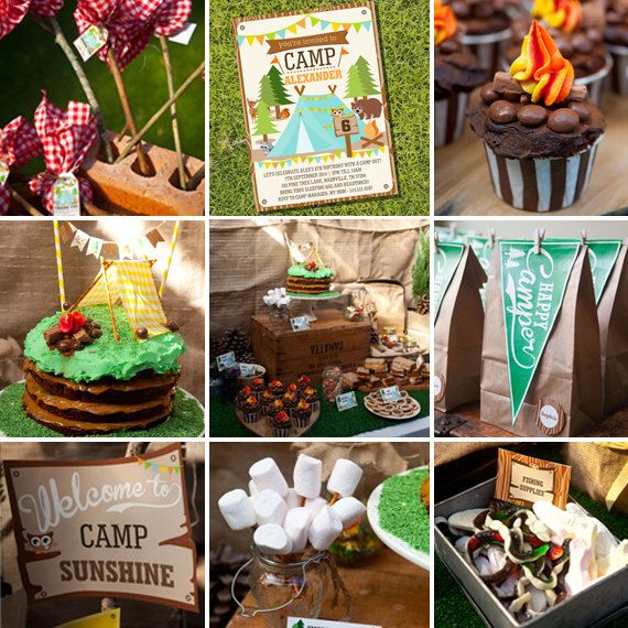 Camping Tent Party Full Printable Set - Camp Out - Instant Download and Editable File - Personalize at home with Adobe Reader by SunshineParties on Etsy https://www.etsy.com/listing/195651457/camping-tent-party-full-printable-set