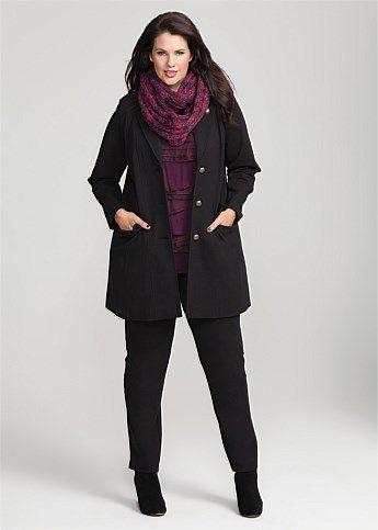 #Virtu Sublime Coat #plussize #curvy