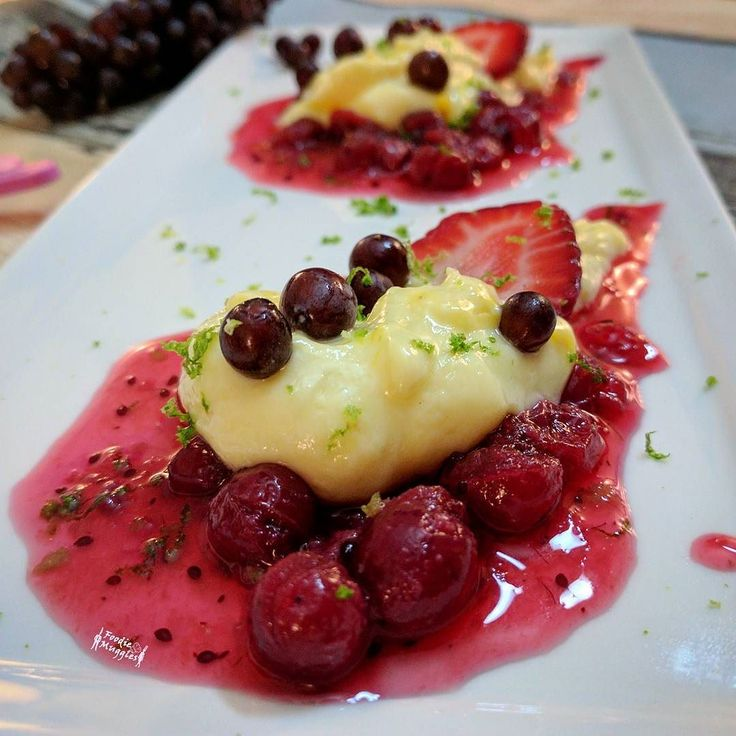 Mid week dessert craving results into this amazing dessert made from scavenging the refrigerator. Homemade mango shrikhand (indian hung curd dessert) on a bed of  homemade Cranberry coulee topped with Fresh champagne grapes strawberry &  lime zest. Craving definitely satisfied   #ilovesweets #sweettooth #sweet #dessert#ilovesweets #humpday #tbt #throwbackthursday #throwback #yummy #foodie #instafood#delicious #buzzfeedfood #buzzfeedtasty #indianfoodbloggers #indianchef#instagood #chef…