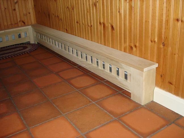 custom baseboard heater covers in poplar