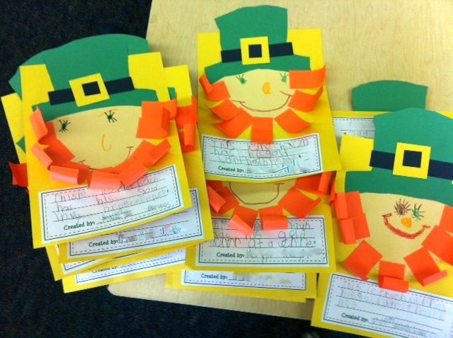 Kinder-Craze: FREEBIE ~ I Just Love These Cute Paper Leprechauns!