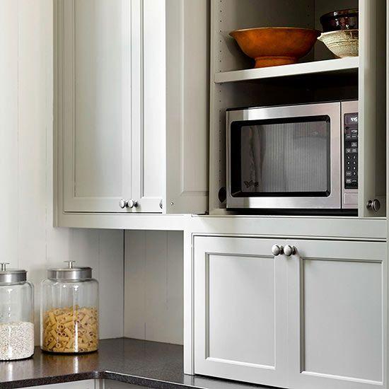 586 best kitchens images on pinterest kitchens country - Kitchen appliance storage cabinet ...