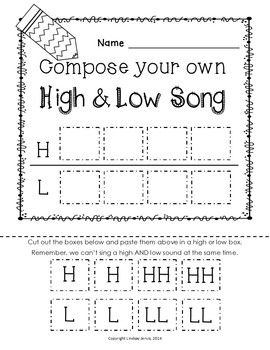 HIGH AND LOW {READY SET PRINT!} - TeachersPayTeachers.com